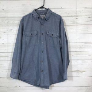 Carhartt Sz L  Solid Chambray Work Shirt